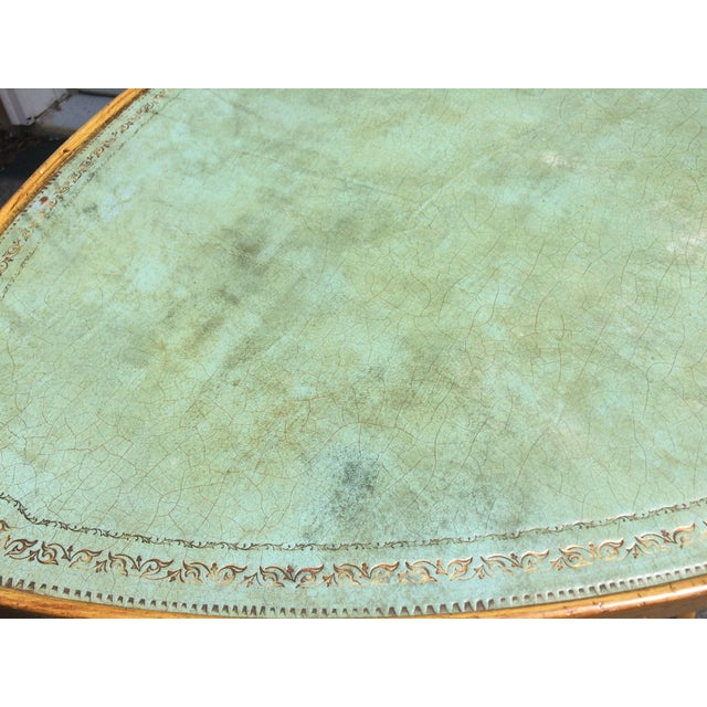 French Provincial Leather Top Side Table - Image 3 of 8