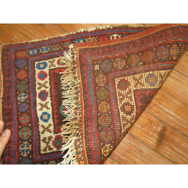 Tribal Tribal Small Rug, 1'1'' x 1'6'' For Sale - Image 3 of 4