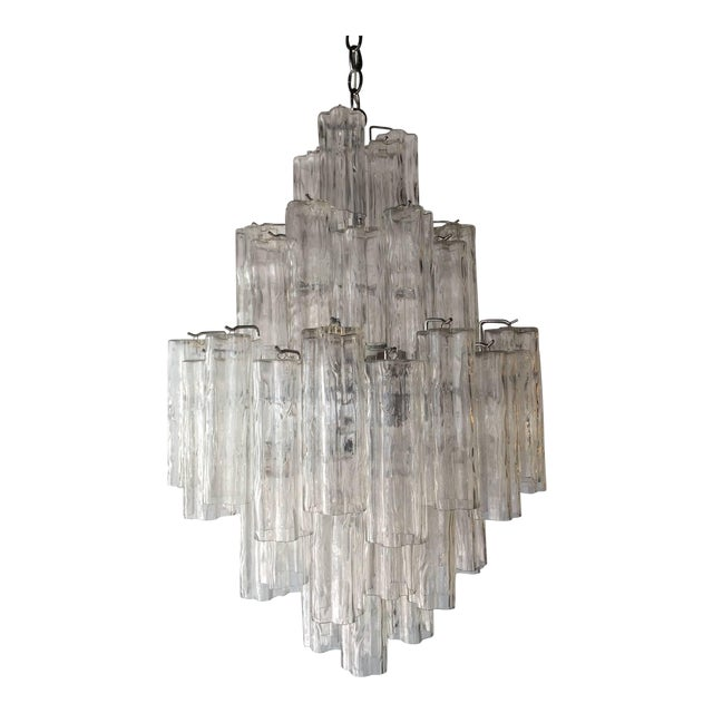 Tronchi Glass Chandelier by Venini for Murano - Image 1 of 9