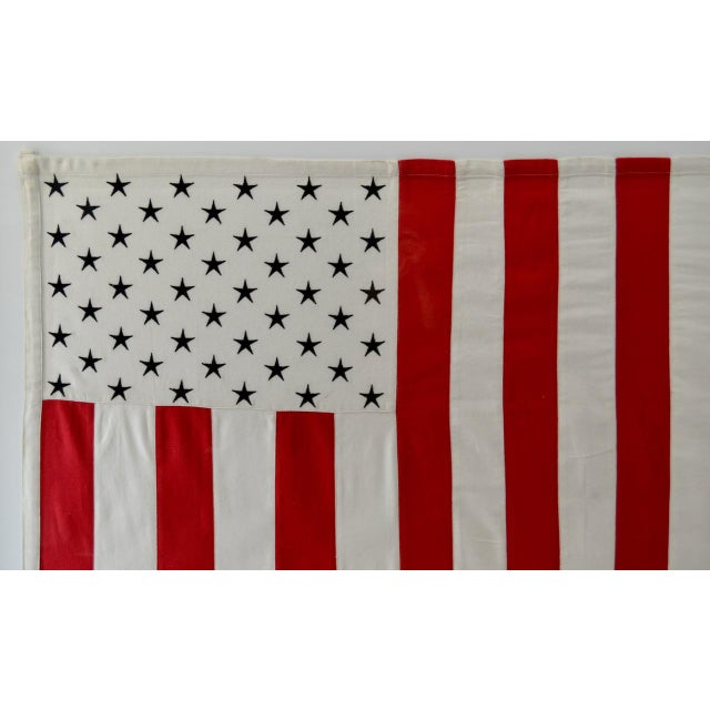Contemporary Vertical 50 Star American Flag, Wall Art Decor For Sale - Image 3 of 4