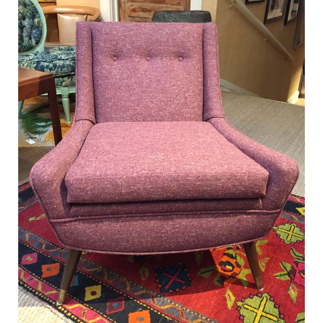 1950's Pink Modernist Lounge Chairs - A Pair - Image 4 of 6