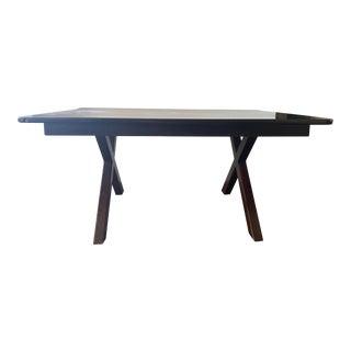 Handmade Wood Dark Stain Table For Sale