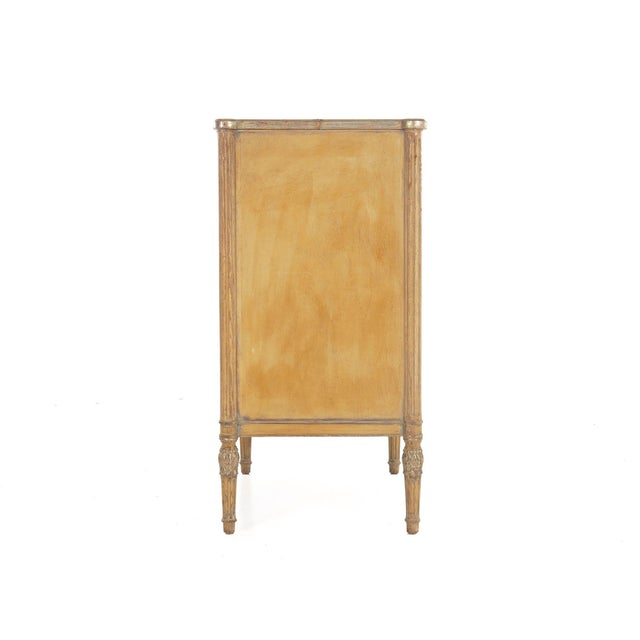 Circa 1940s French Louis XVI Style Antique Painted Desk Over Chest of Drawers For Sale - Image 6 of 13