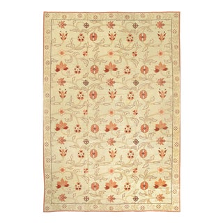 1920s Country Pasargad Beige Spanish Rug - 12' X 18'2'' For Sale