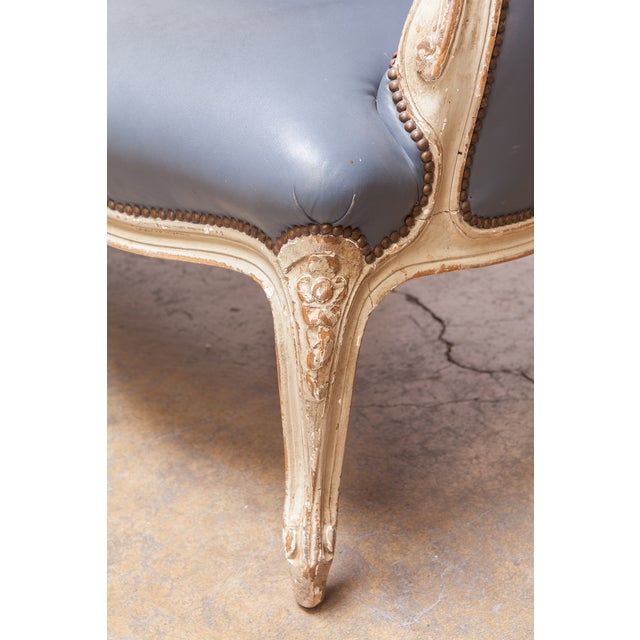 French Louis XV Painted Canapé for William Gaylord For Sale - Image 9 of 10
