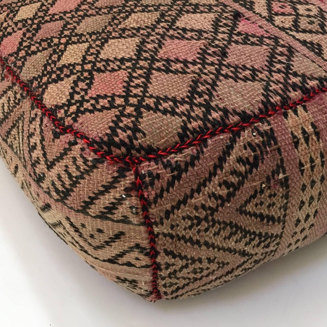 Vintage Moroccan Tribal Floor Pillow For Sale In Los Angeles - Image 6 of 13