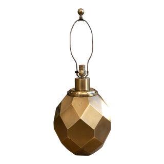 1977 Chapman Brass Geometric Table Lamp For Sale