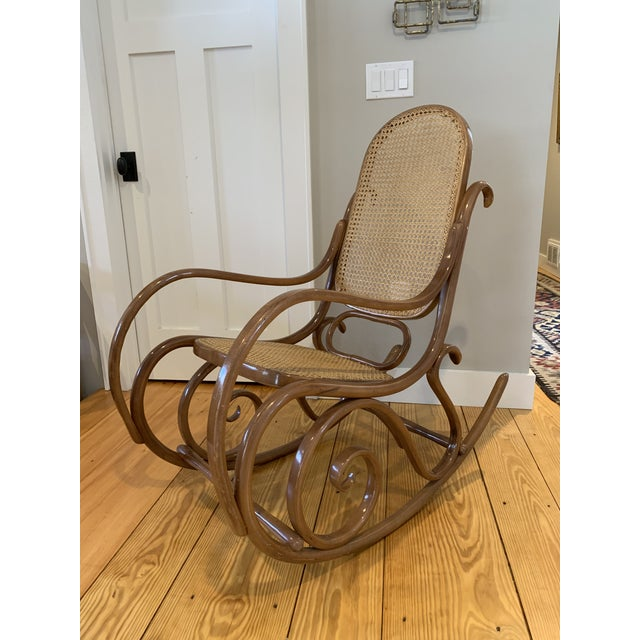 1970s Vintage Thonet Bentwood Rocking Chair For Sale - Image 12 of 12
