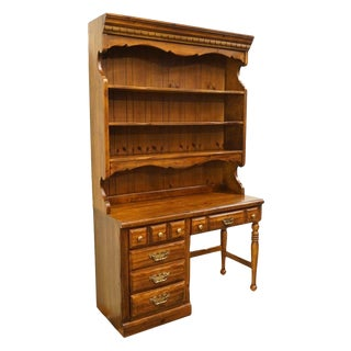 Thomasville Furniture Pine Manor Student Desk with Bookcase Hutch 8311-615 For Sale