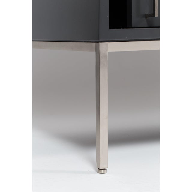 re: 379 lacquer and satin nickel credenza For Sale In New York - Image 6 of 7