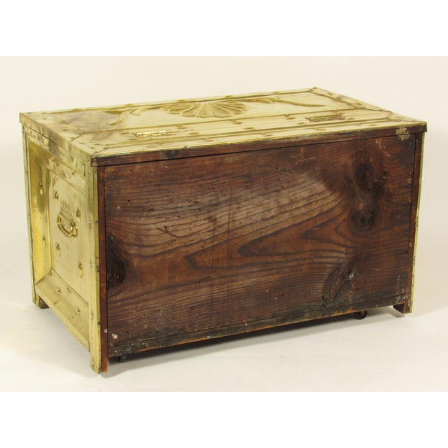 Gold 19th Century Swedish Brass Wood Box For Sale - Image 8 of 8