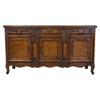 19th Century French Country Louis XV Style Bressan Enfilade Buffet For Sale