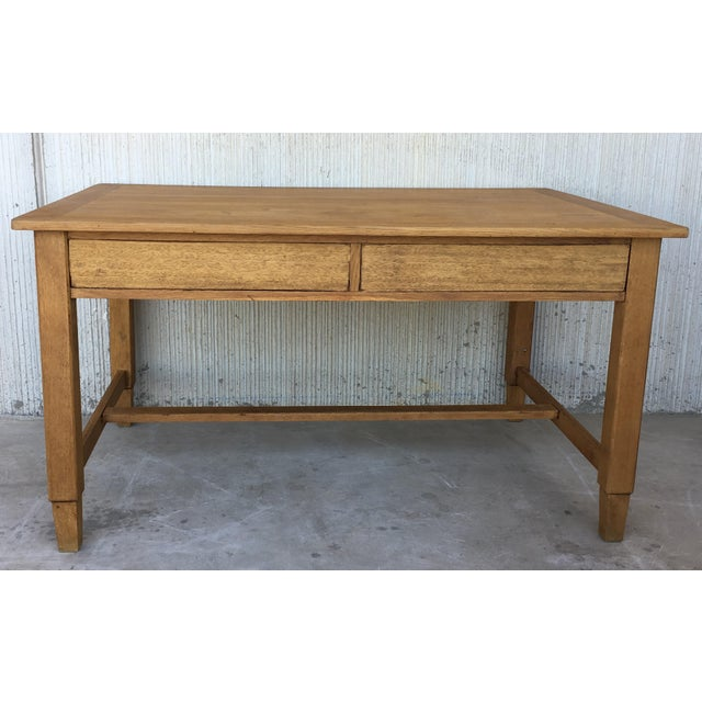 About Mid Century Modern Pair of Pine Desk with two drawers Completely restored Details PRODUCTION TIME Available Now OF...