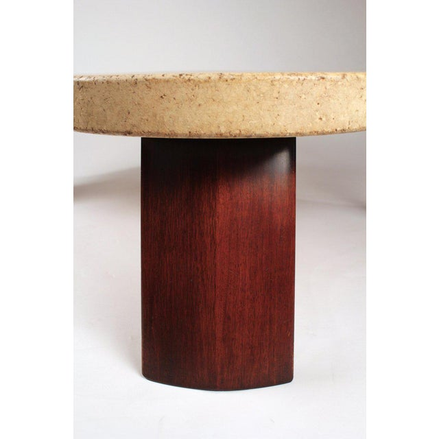 Mid-Century Modern Paul Frankl Cork Top Amoeba Coffee Table for Johnson Furniture For Sale - Image 3 of 10