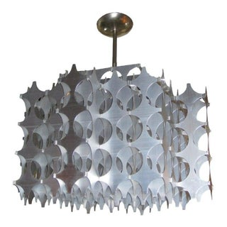 Geometric Pierced Aluminum Pendant by Mario Marenco for Artemide For Sale