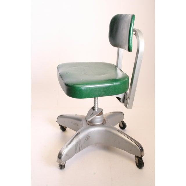 Metal Vintage Cole Steel Industrial Swivel Office Chair For Sale - Image 7 of 11