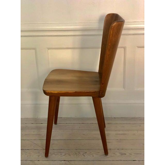 1940s Set of 4 Goran Malmvall Swedish Pine Chairs, Svensk Fur, Sweden, 1940s For Sale - Image 5 of 8