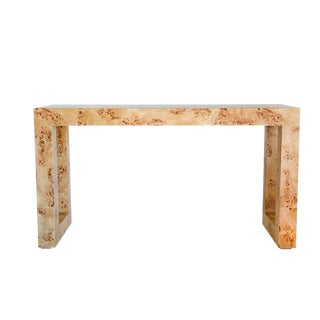 Burl Console Table by Ave Home For Sale