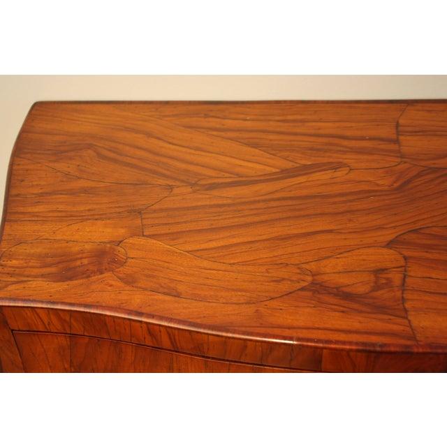 Mid-Century Italian Olive Wood Commode - Image 6 of 11