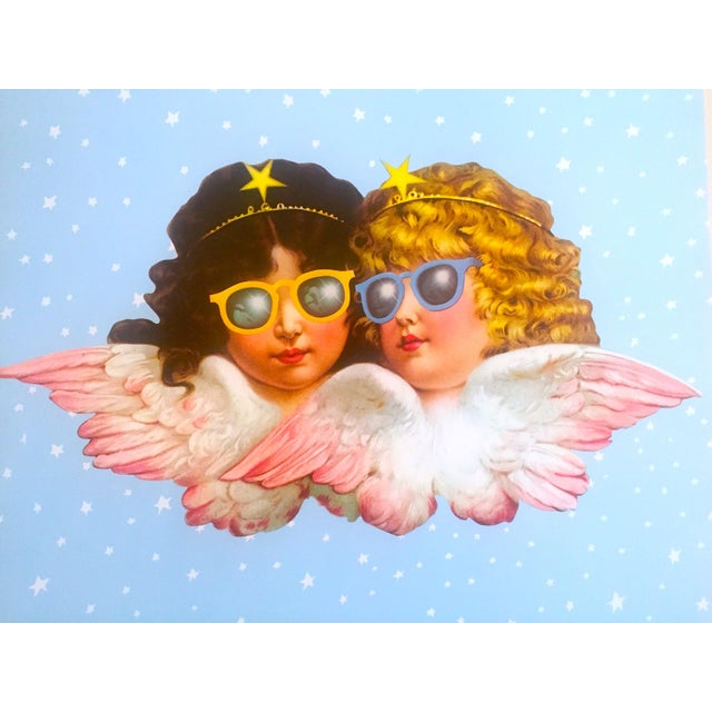 Various Artists Vintage 1980 Rare Fiorucci New Wave Italian Fashion Iconic Cherub Angels Post Modern Pop Art Poster For Sale - Image 4 of 9