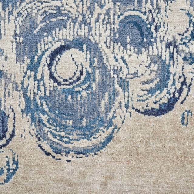 """Silk Contemporary Schumacher Patterson Flynn Martin Antalya Hand-Knotted Wool Silk Rug - 9' X 12'4"""" For Sale - Image 7 of 8"""