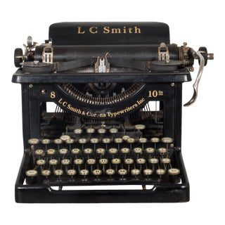 Antique Lc Smith & Corona Typewriter C.1926 For Sale