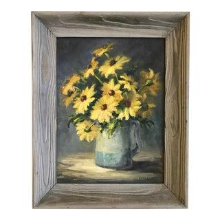 Vintage Impressionist Floral Still Life Painting