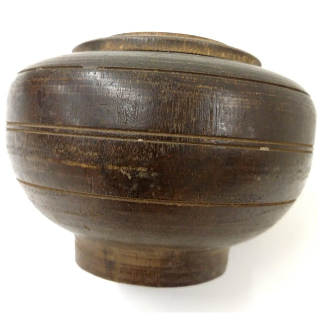 Wood Antique Round Wooden Part For Sale - Image 7 of 7