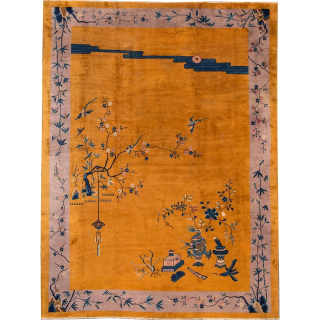 "Apadana Chinese Art Deco Rug - 10' X 13'6"" - Image 1 of 7"