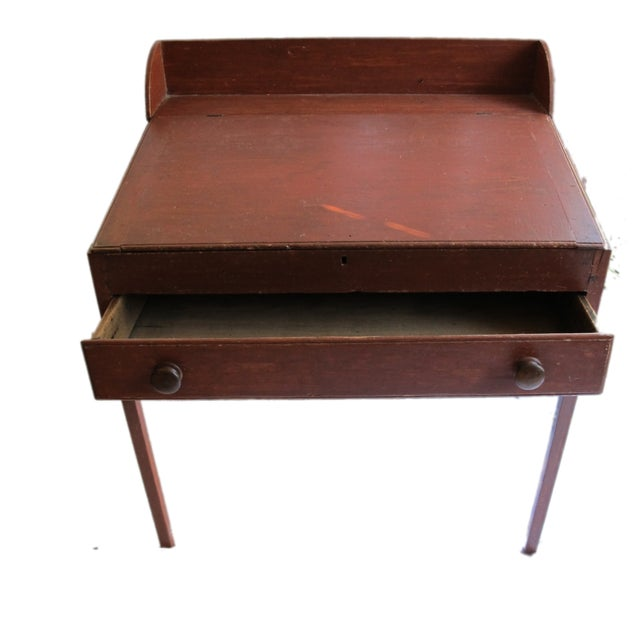 Original Red Painted Schoolmaster's Desk - Image 3 of 9