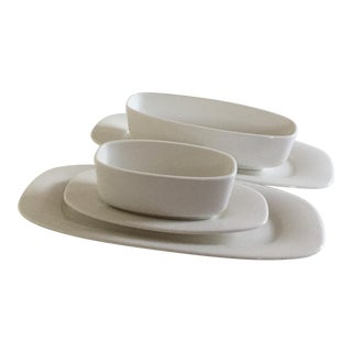 Villeroy & Boch Affinity White Premium Porcelain Oval Plates & Sides Dishes - Set of 5