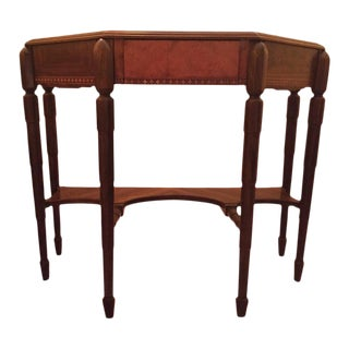 20th Century Art Deco Walnut Inlaid Console Table For Sale