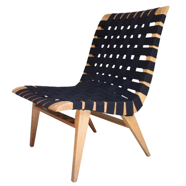 Jens Risom-Style Webbed Chair For Sale