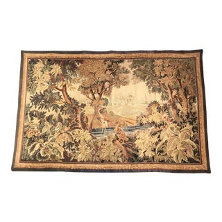 Late 19th Century French Verdure Aubusson Tapestry With Birds, Trees and Stream For Sale