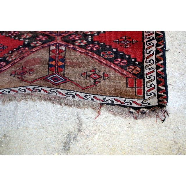 "Vintage Turkish Handknotted Anatolian Tribal Runner-3'4x11'2"" For Sale - Image 9 of 13"