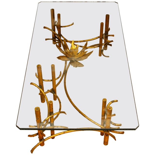 A fantastic table attributed to the American sculptor Silas Seandel. The base is a wonderful asymmetrical design with a...