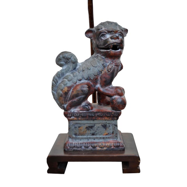 Frederick Cooper Bronze Foo Dog Lamps - A Pair - Image 3 of 7