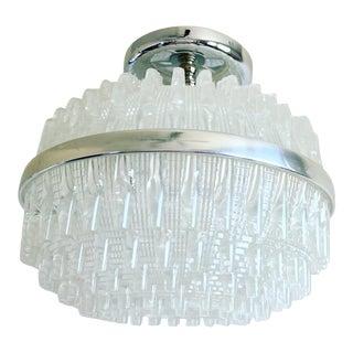 Vintage English Lucite Flush Light For Sale