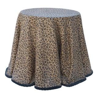 Vintage Resin Leopard Print Side Table For Sale