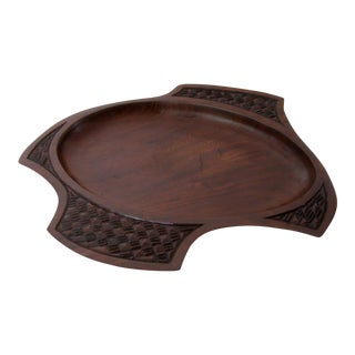 Decorative Shallow Wood Bowl For Sale