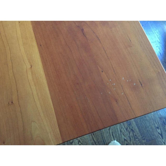 Solid Cherry Dining Table With Antique-Style Trestle For Sale - Image 10 of 11