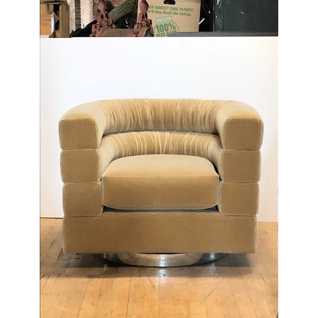 Metal Mid Century Lounge Swivel Chair by Milo Baughman For Sale - Image 7 of 7