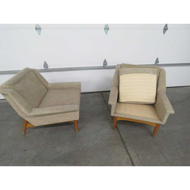Pair of Danish Modern Lounge Chairs For Sale - Image 4 of 9