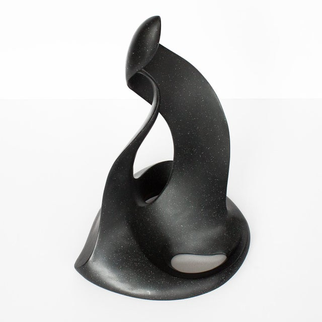 Abstract Black Abstract Flame Modernist Sculpture For Sale - Image 3 of 12