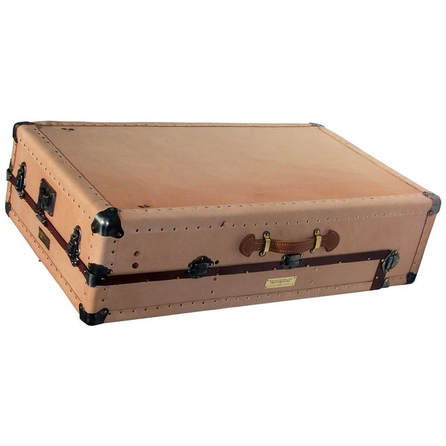 Knapp Antique Tanned Leather Tourist Trunk - Image 1 of 5