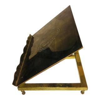 Vintage Bronze Book or Bible Adjustable Stand For Sale