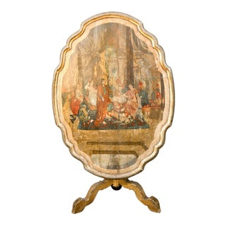 18th Century Italian Hand Painted Flip Top Table For Sale