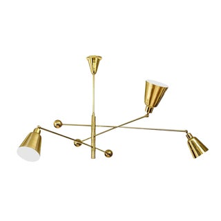 """Movimento LIbero"" Three Lamp Chandelier by Fedele Papagni for Gaspare Asaro For Sale"