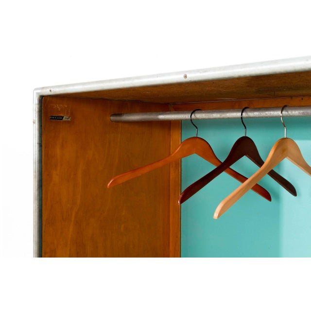 Henry P. Glass Rolling Closet For Sale - Image 9 of 11