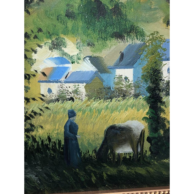 French Vintage French Painting Replica of Camille Pissarro For Sale - Image 3 of 7